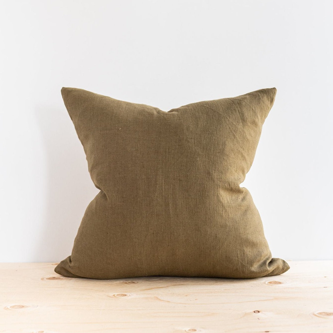Olive Linen Pillow - Rug & Weave