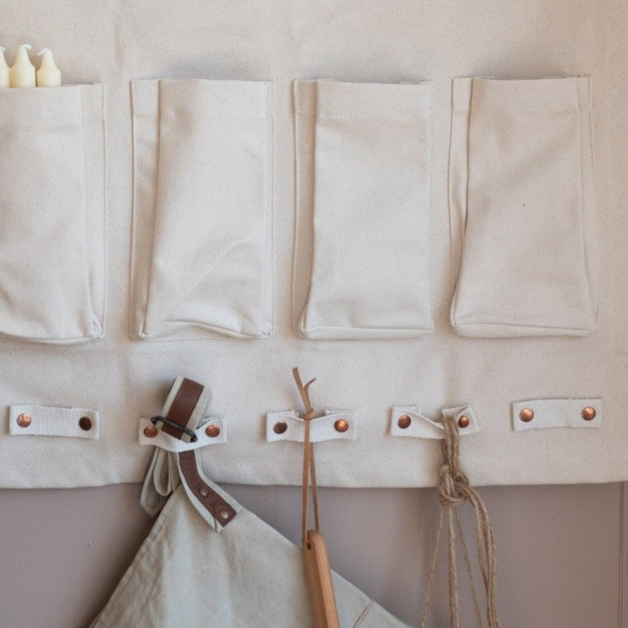 Canvas Half Wall Organizer