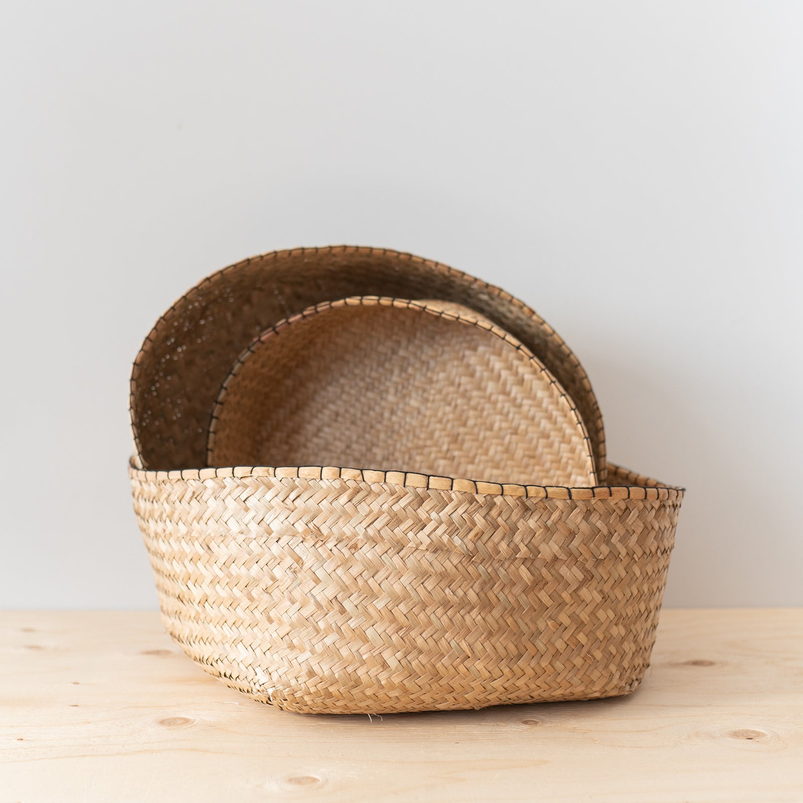 Round Seagrass Basket Set