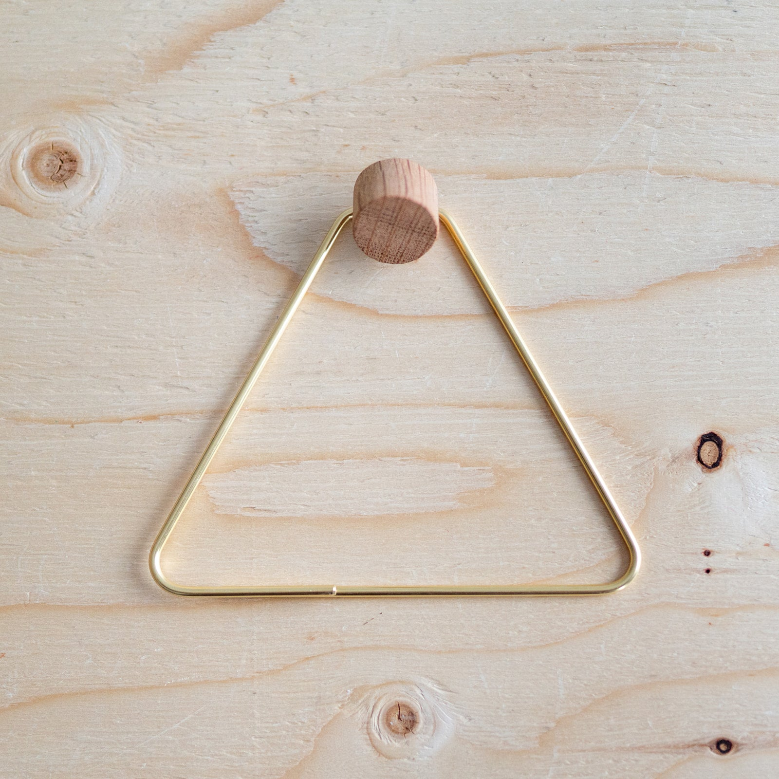 Brass Triangle Toilet Paper Holder - Rug & Weave