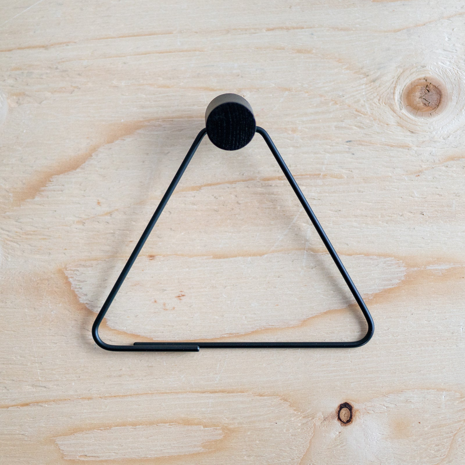 Black Triangle Toilet Paper Holder - Rug & Weave