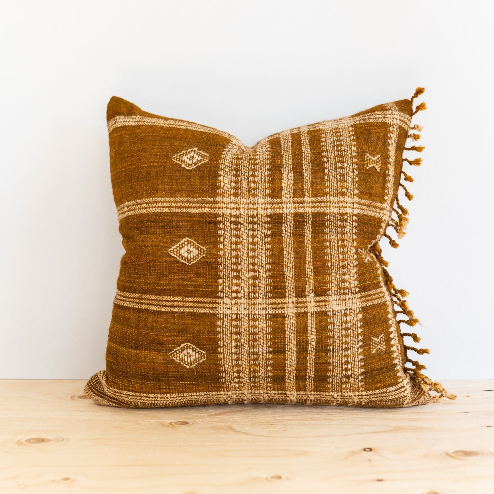 Caramel Brown Bhujodi Pillow