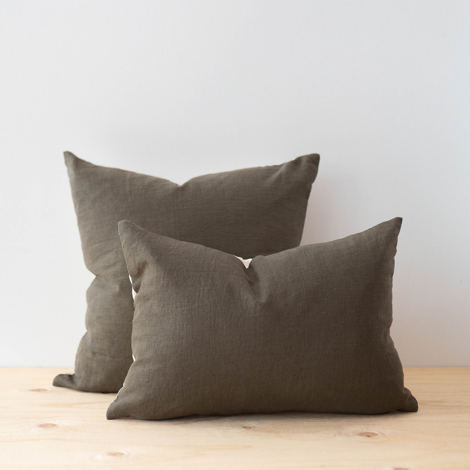 Ochre Linen Pillow