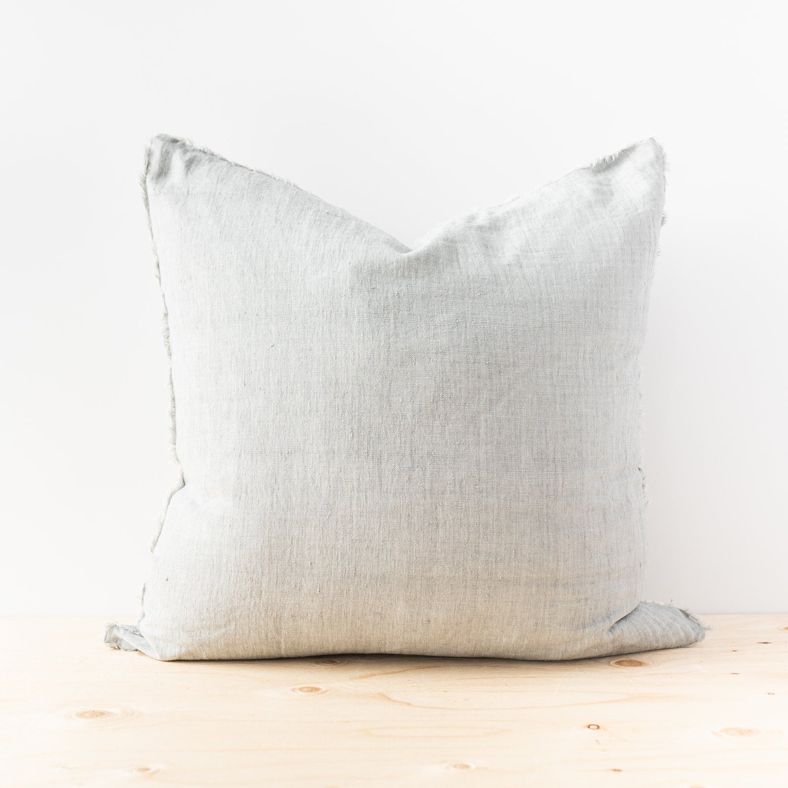 Lina Flint Grey Linen Pillow - Rug & Weave