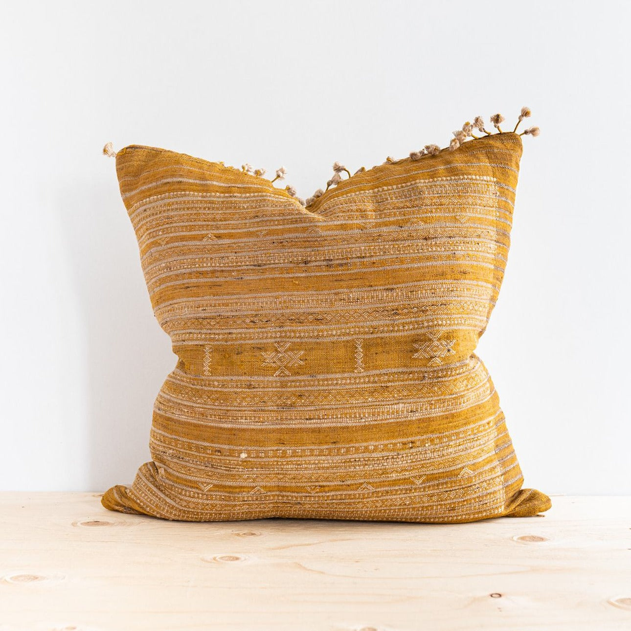 Ochre Tussar Pillow