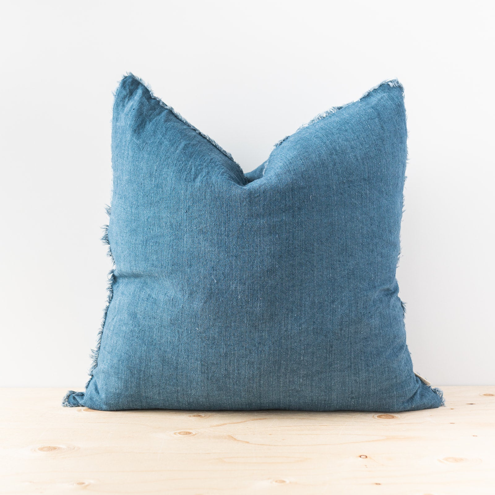 Lina Cobalt Linen Pillow