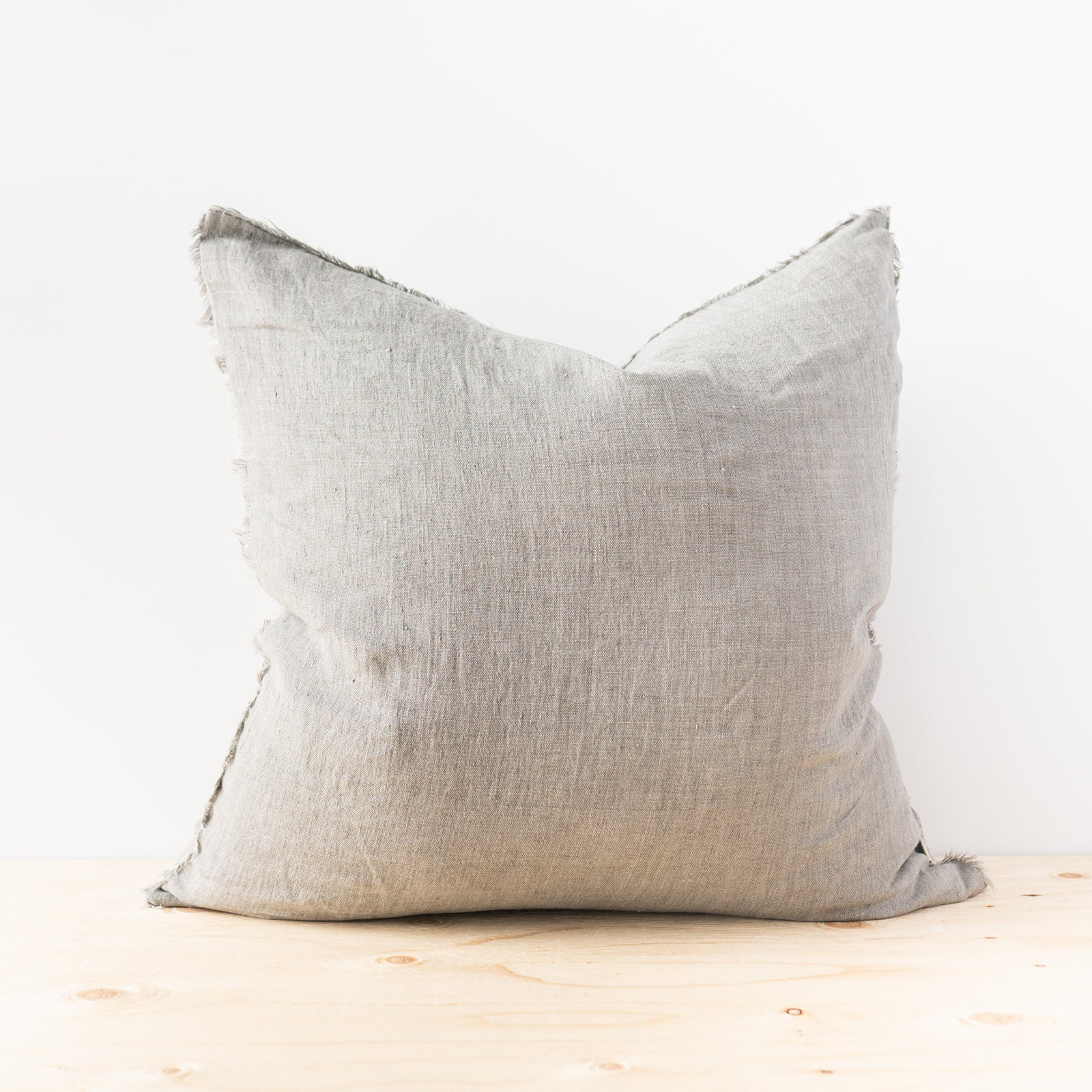 Lina Warm Grey Linen Pillow - Rug & Weave