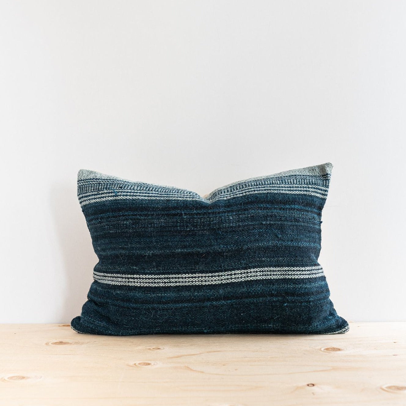 Denim Bhujodi Pillow - Rug & Weave