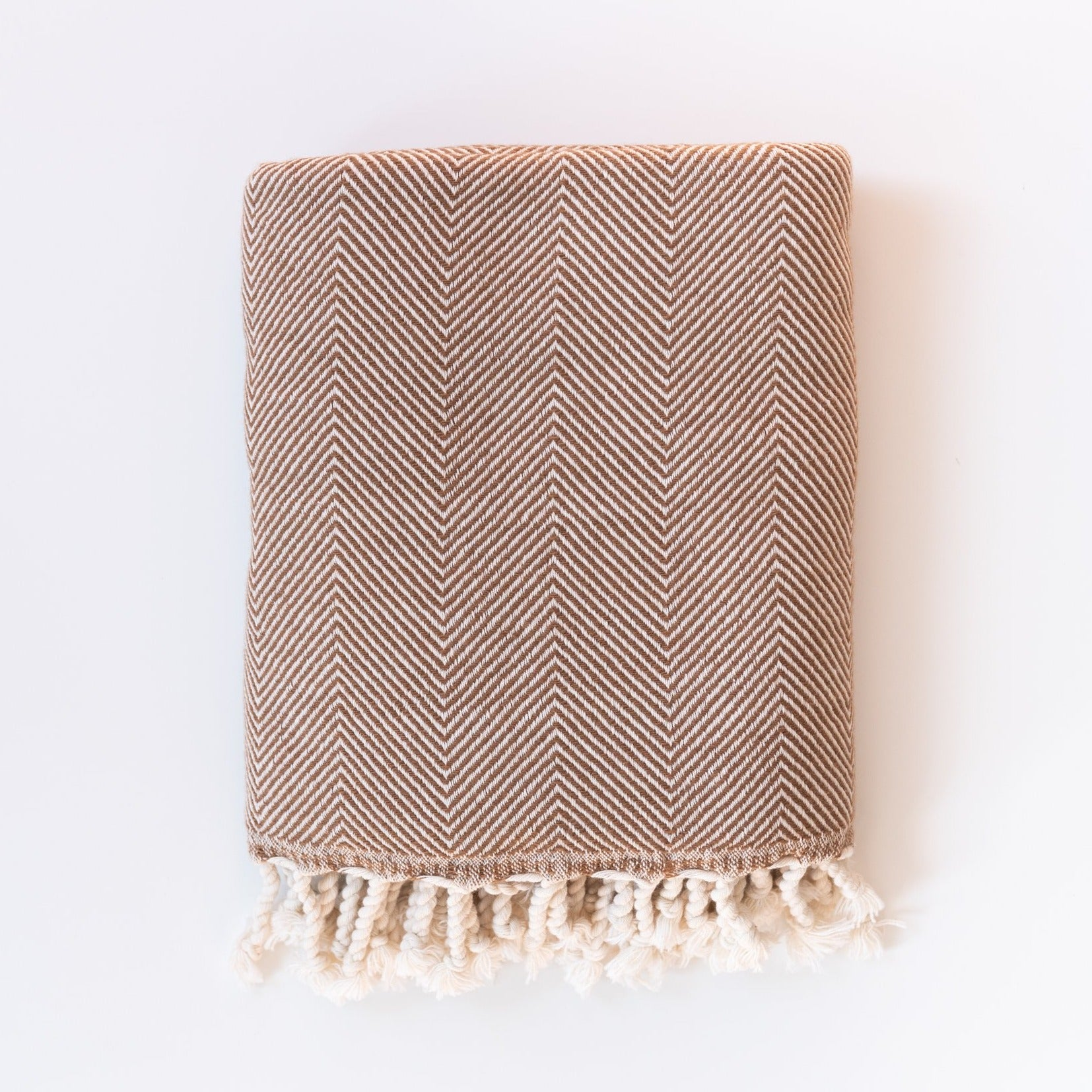 Cinnamon Herringbone Throw