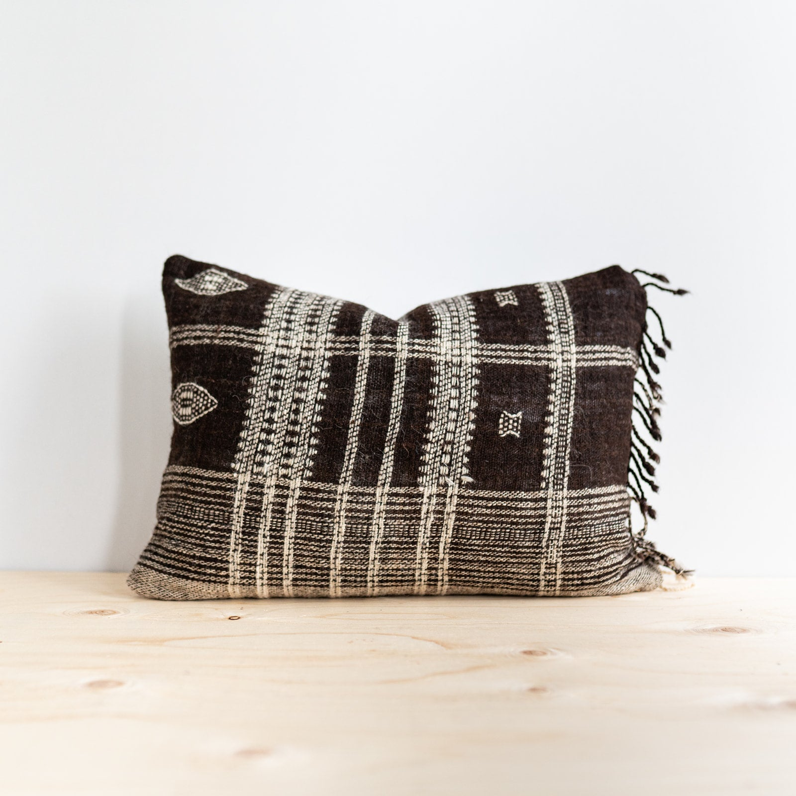 Brown Bhujodi Pillow