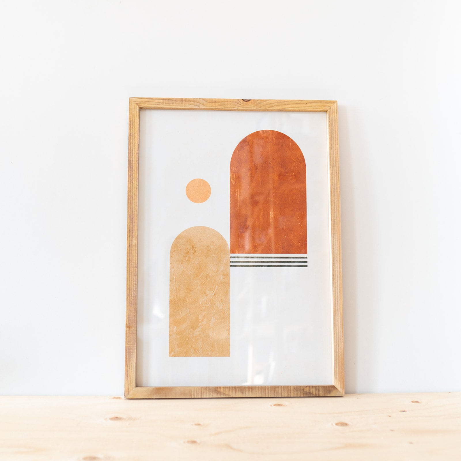 Framed Abstract Windows Print