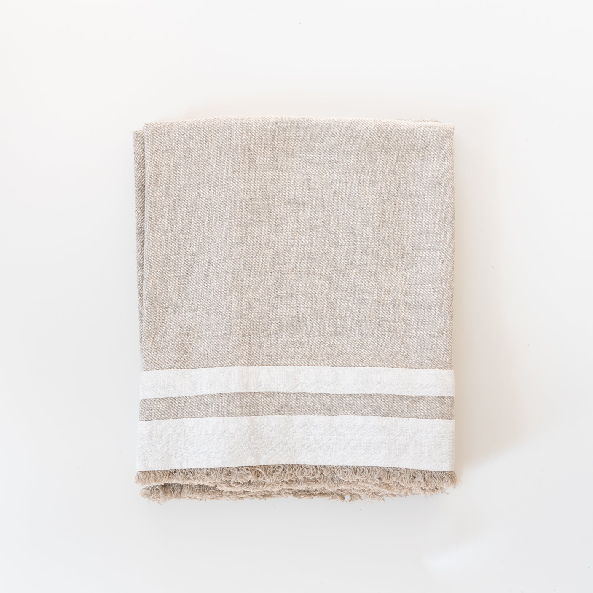 Oatmeal Linen Bath Towel