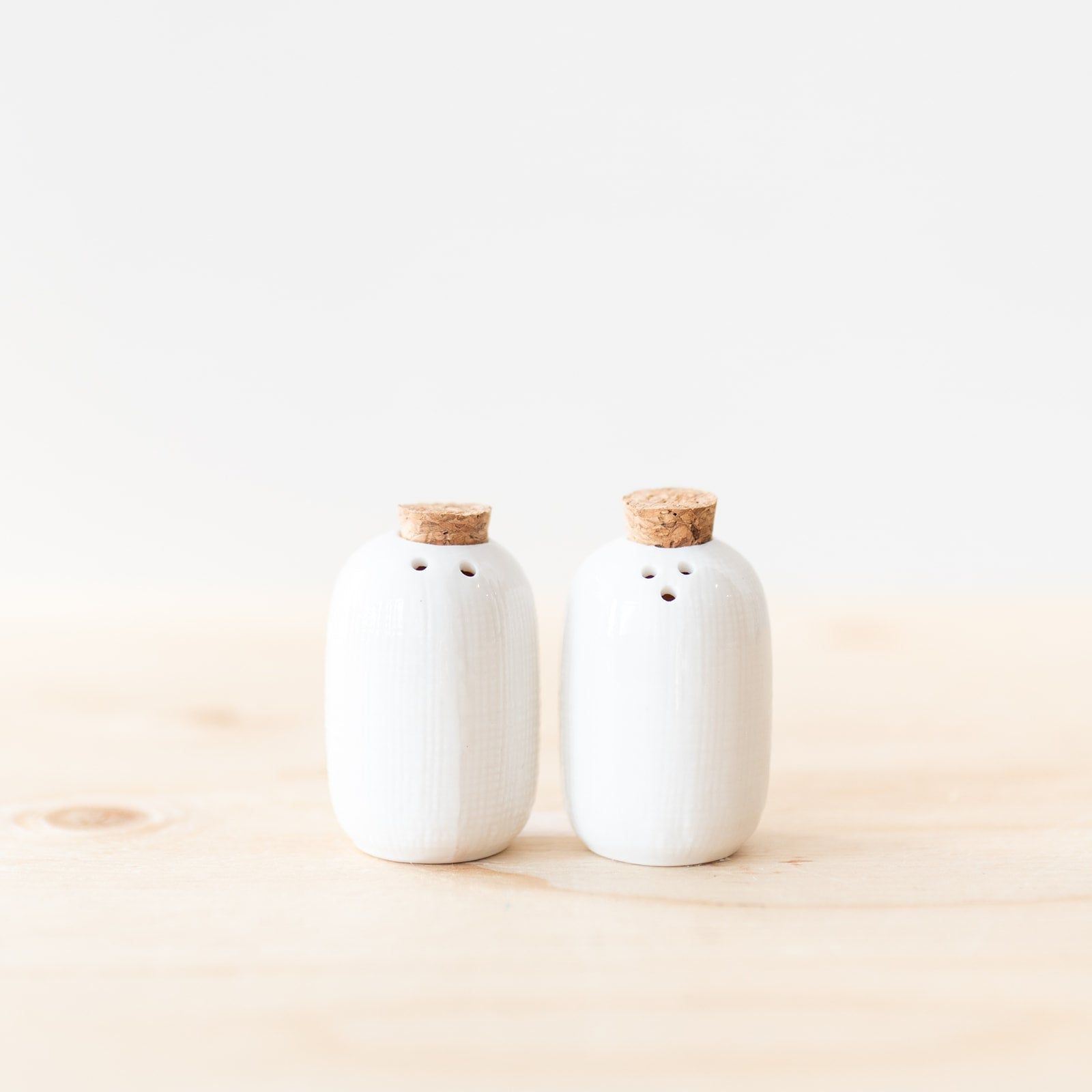 Ceramic Salt & Pepper Shakers Set - Rug & Weave