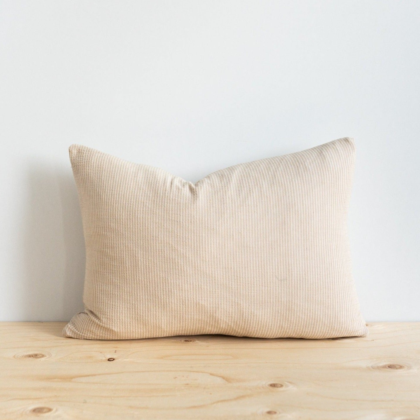 Cream Woven Pillow
