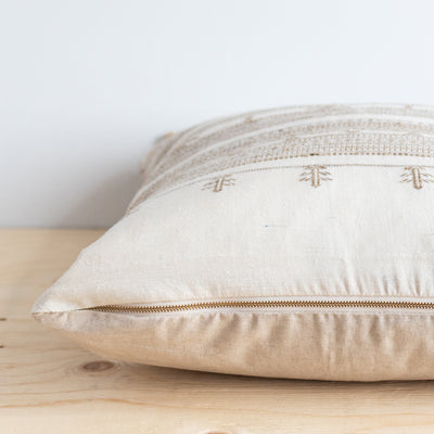 Pearl Tussar Pillow - Rug & Weave