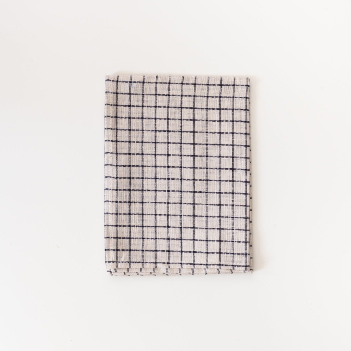 French Check Linen Kitchen Cloth - Rug & Weave