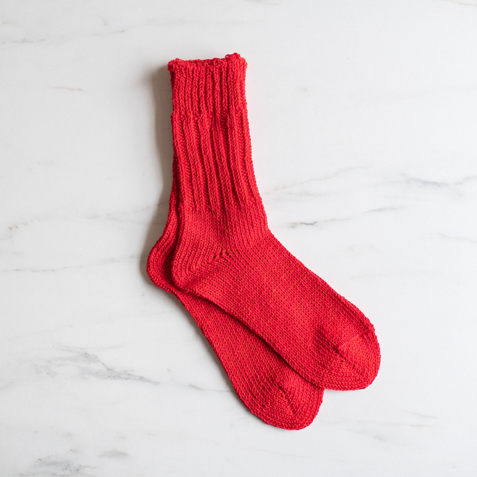 Red Knitted Boot Socks - Rug & Weave