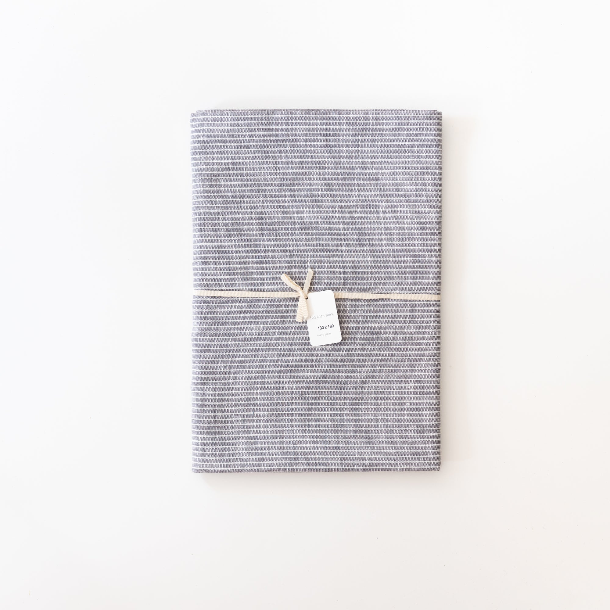 Grey Striped Linen Table Cloth - Rug & Weave