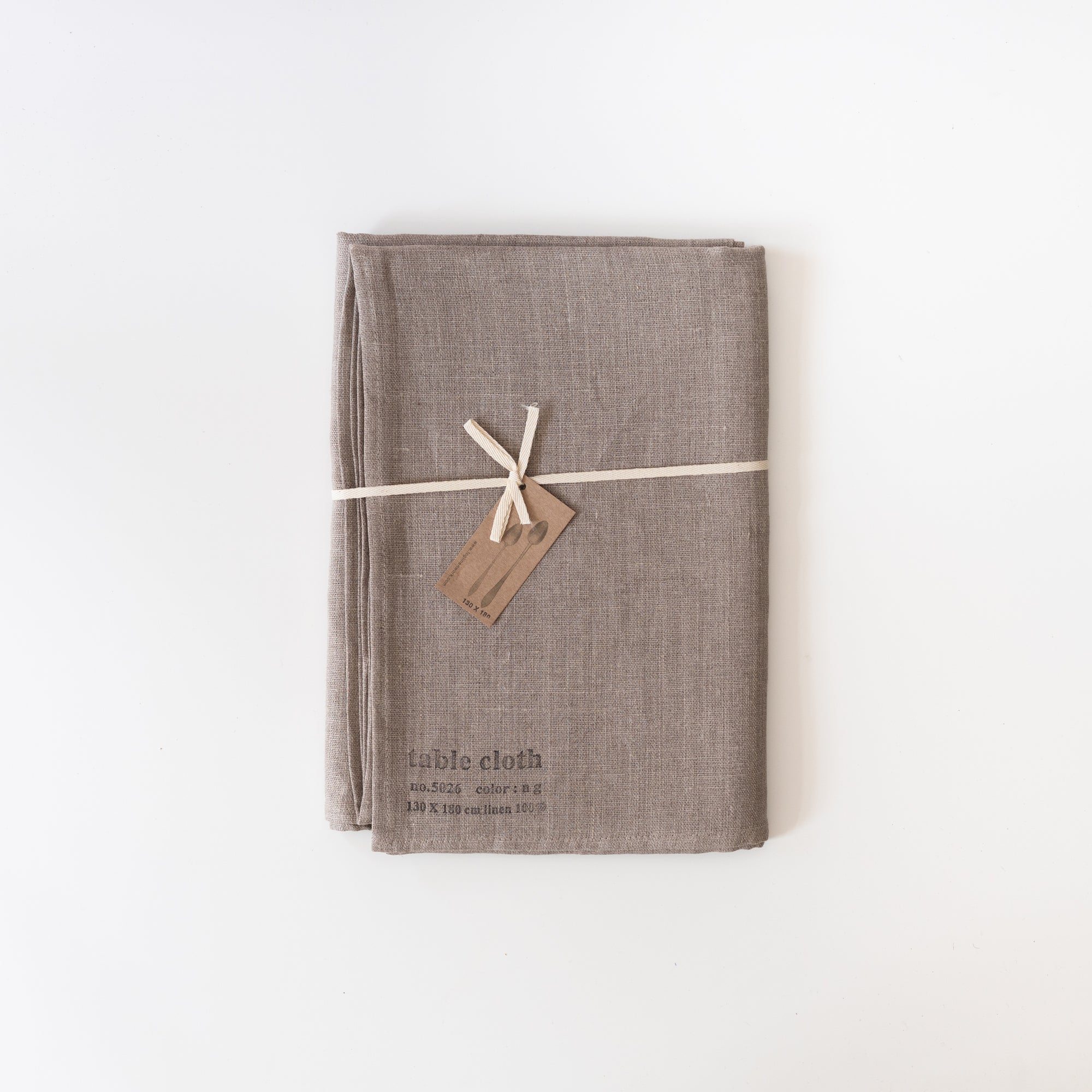 Natural Linen Table Cloth - Rug & Weave