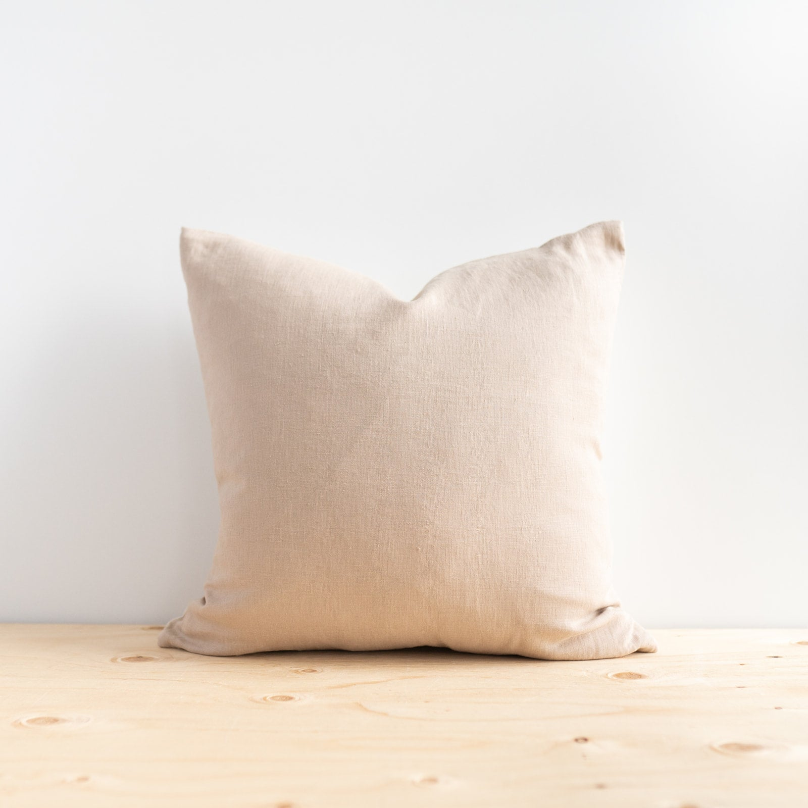 Beige Linen Pillow