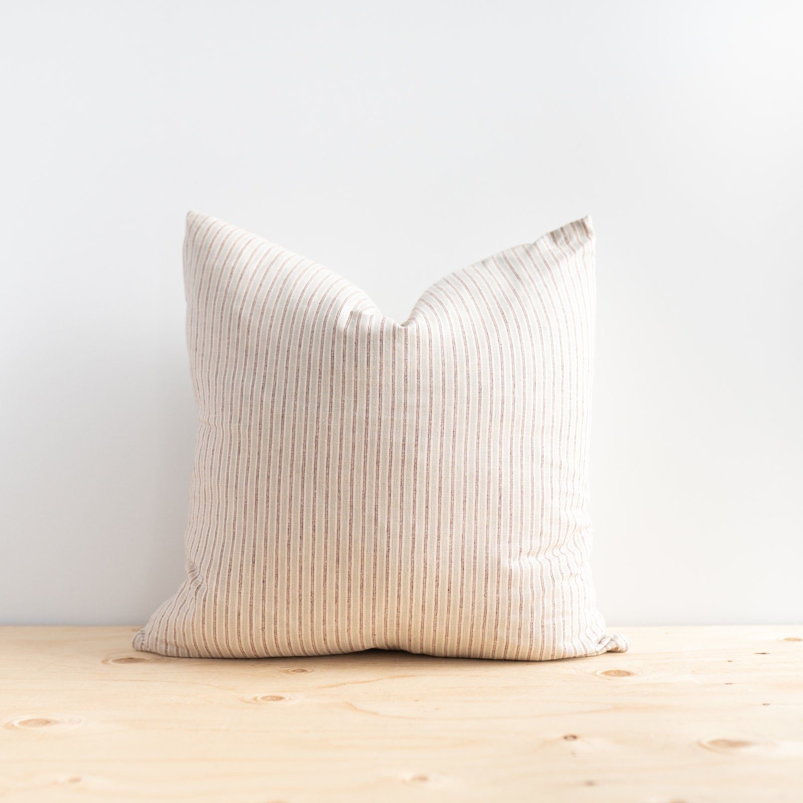 Chestnut Stripes Linen Pillow
