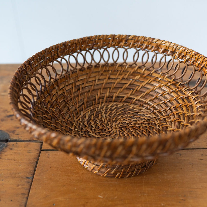 Woven Footed Bowl