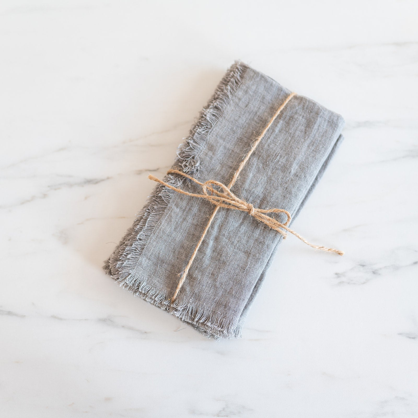 Warm Grey Linen Napkin Set