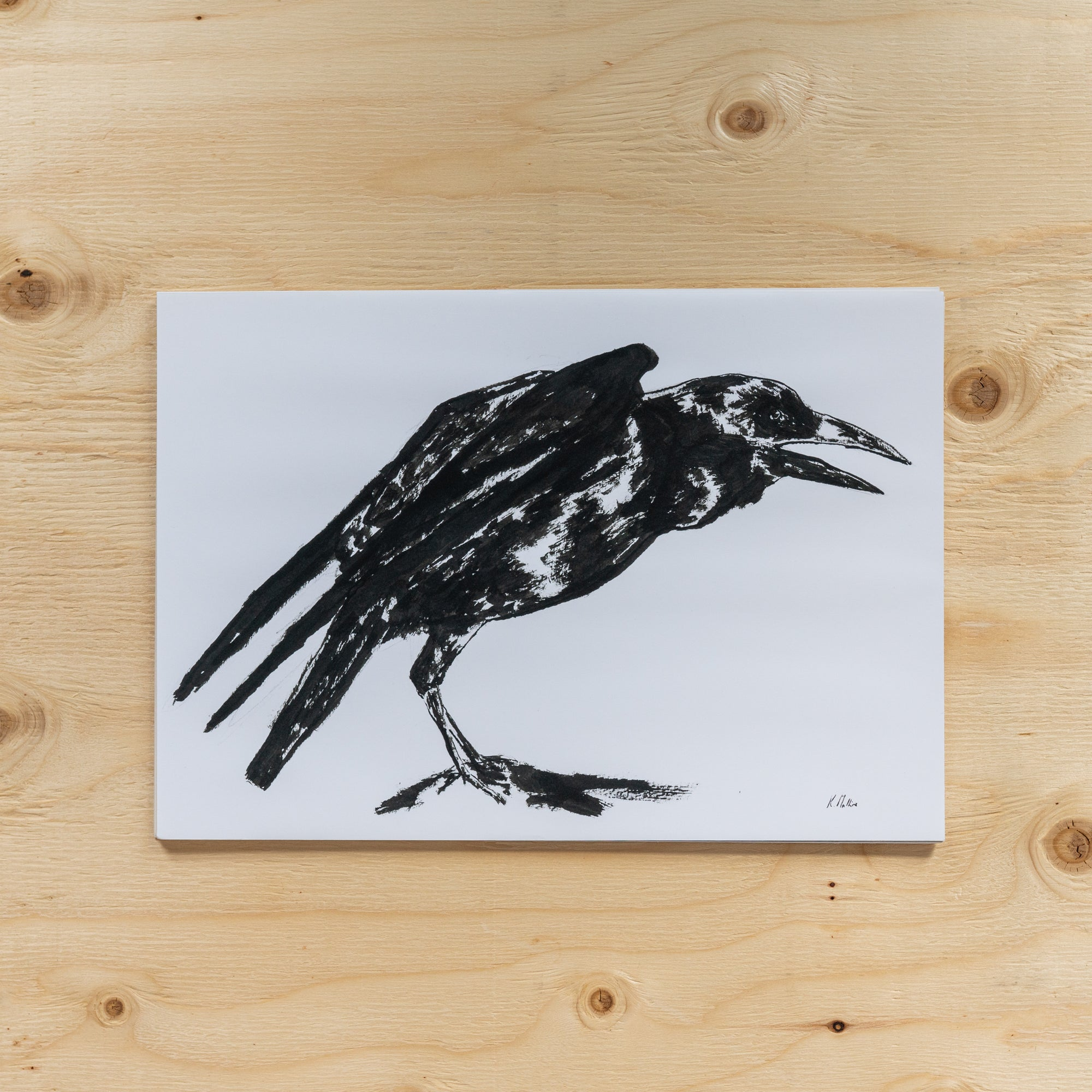"""Talking Crow"" by Kate Mullins - Rug & Weave"