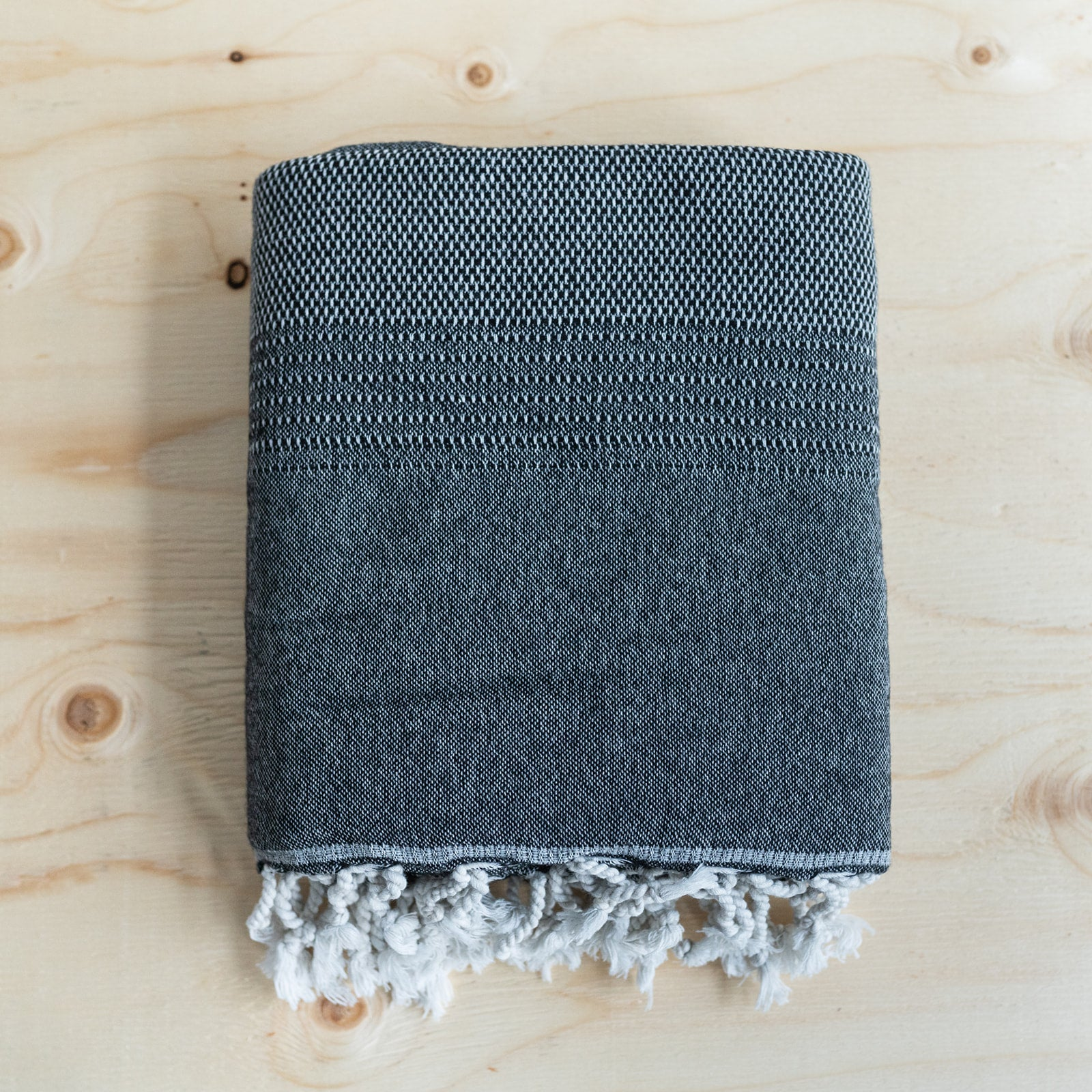 Charcoal Lambswool Throw