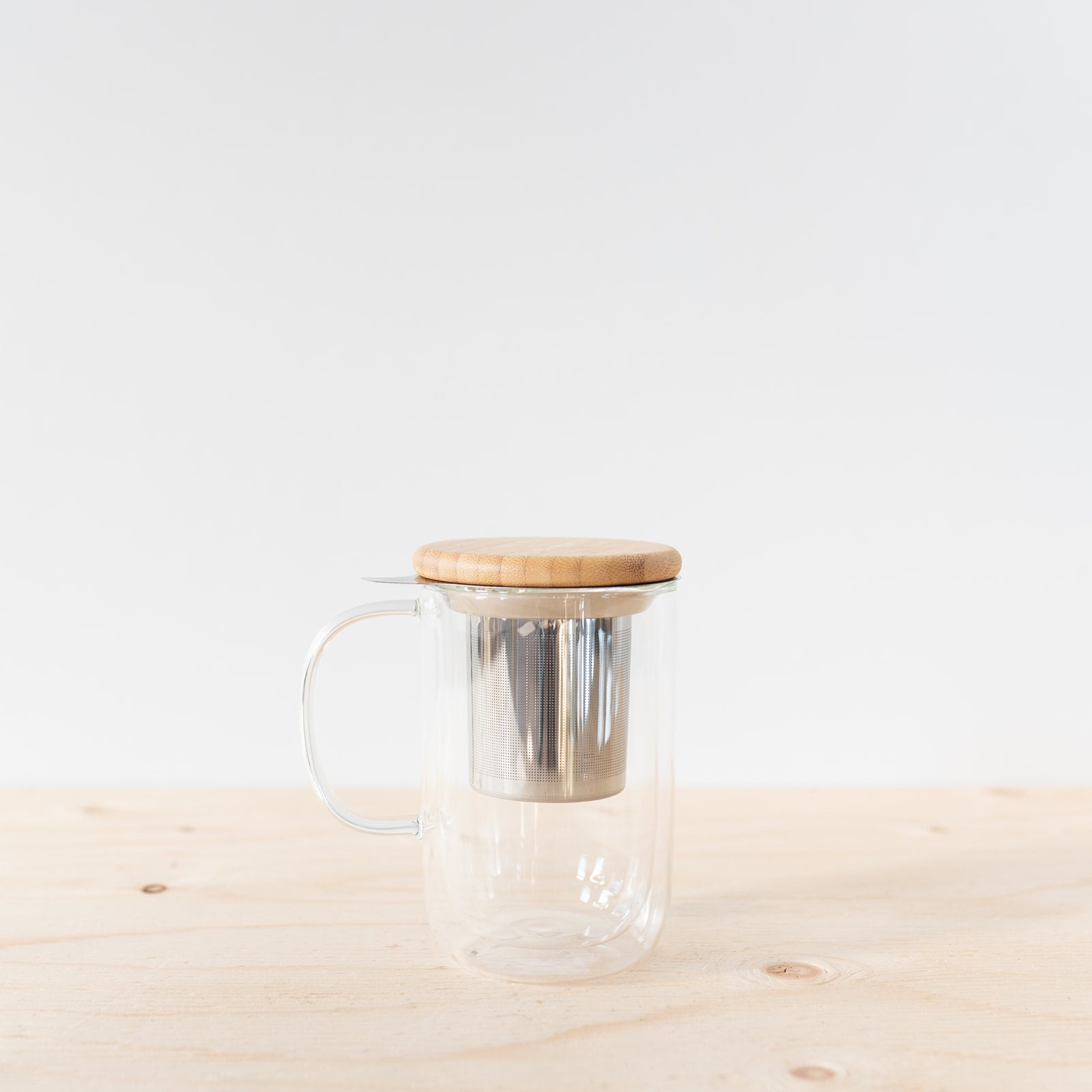 Minima™ Double Walled Glass Tea Infuser Mug - Rug & Weave