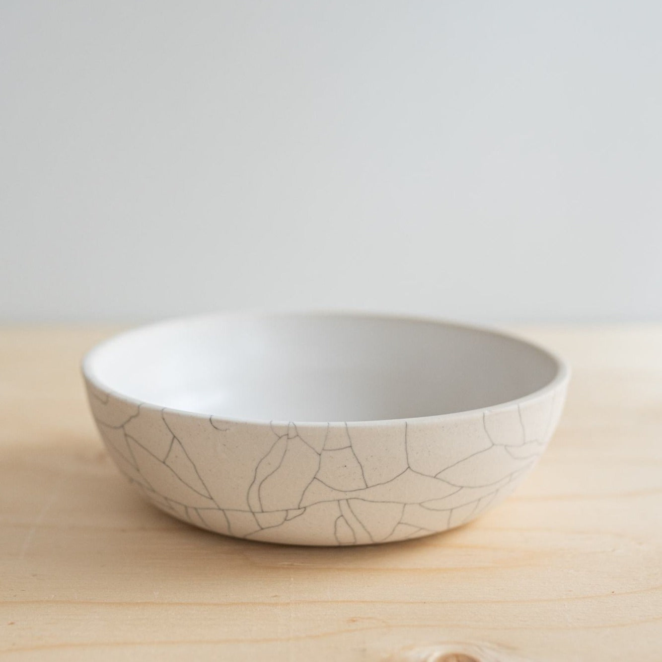 Crackle Dinner Bowl - Rug & Weave