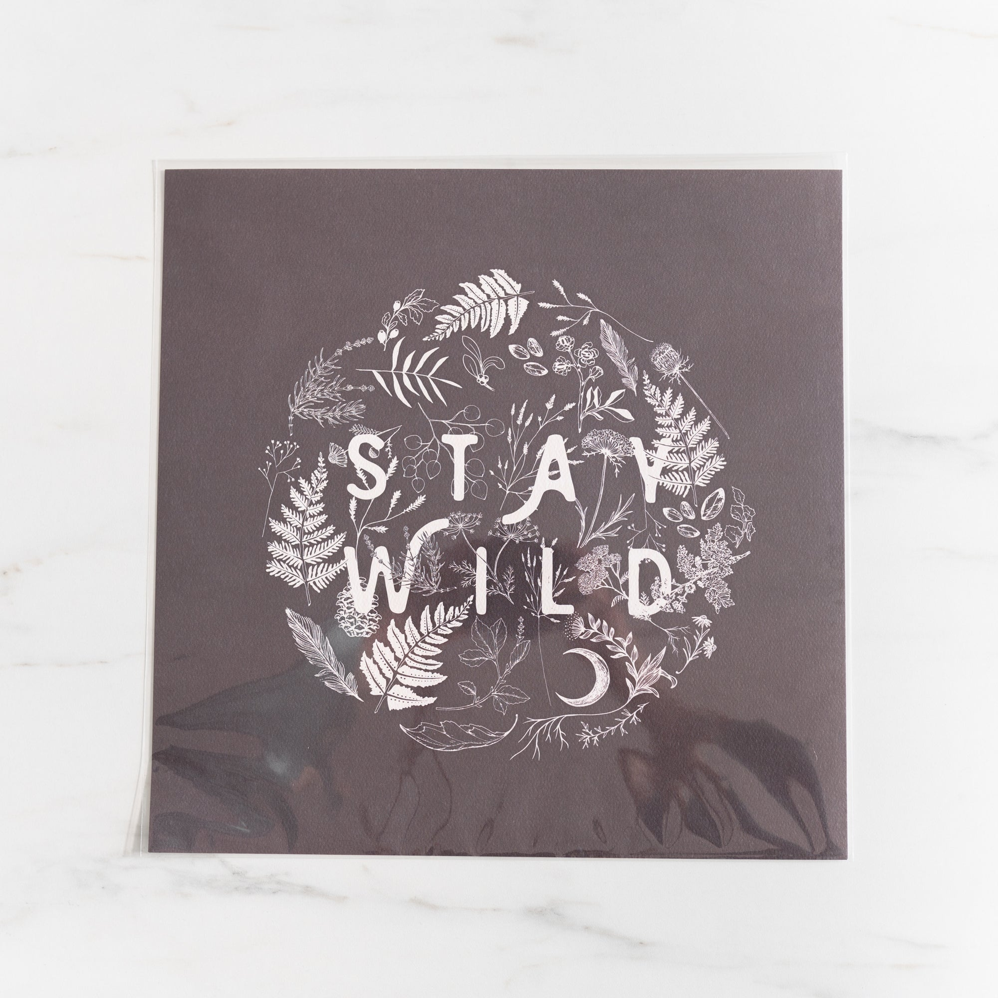 Stay Wild Art Print by Maija Rebecca Hand Drawn