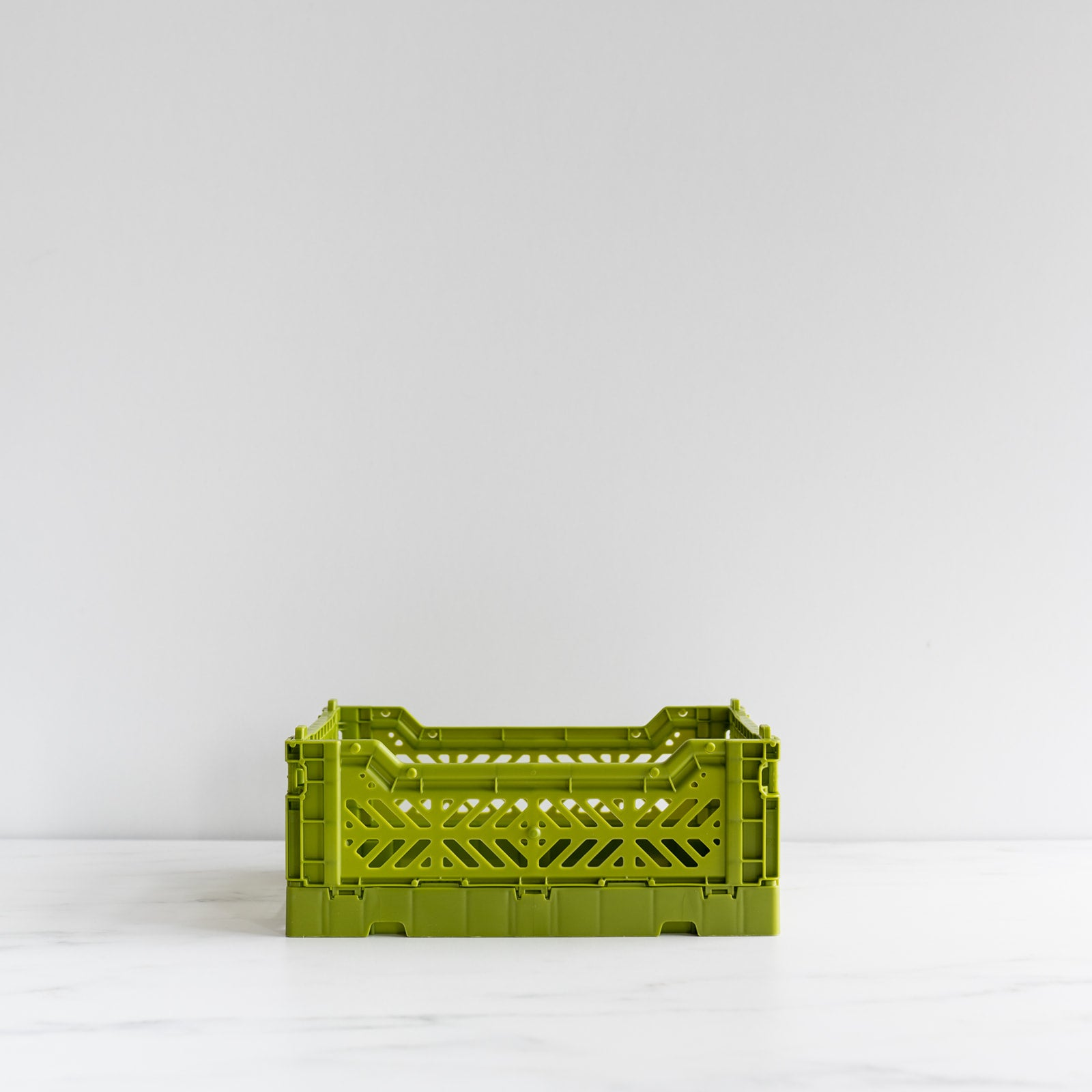 Olive Green Folding Crate