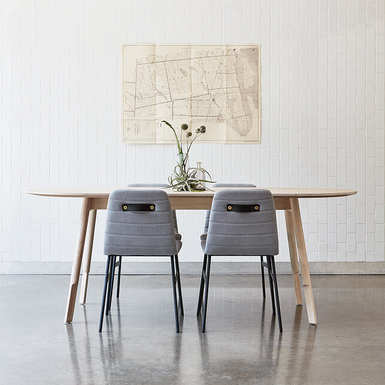 Bracket Oval Dining Table - Rug & Weave