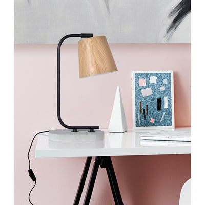 Buckley Wood & Concrete Table Lamp - Rug & Weave