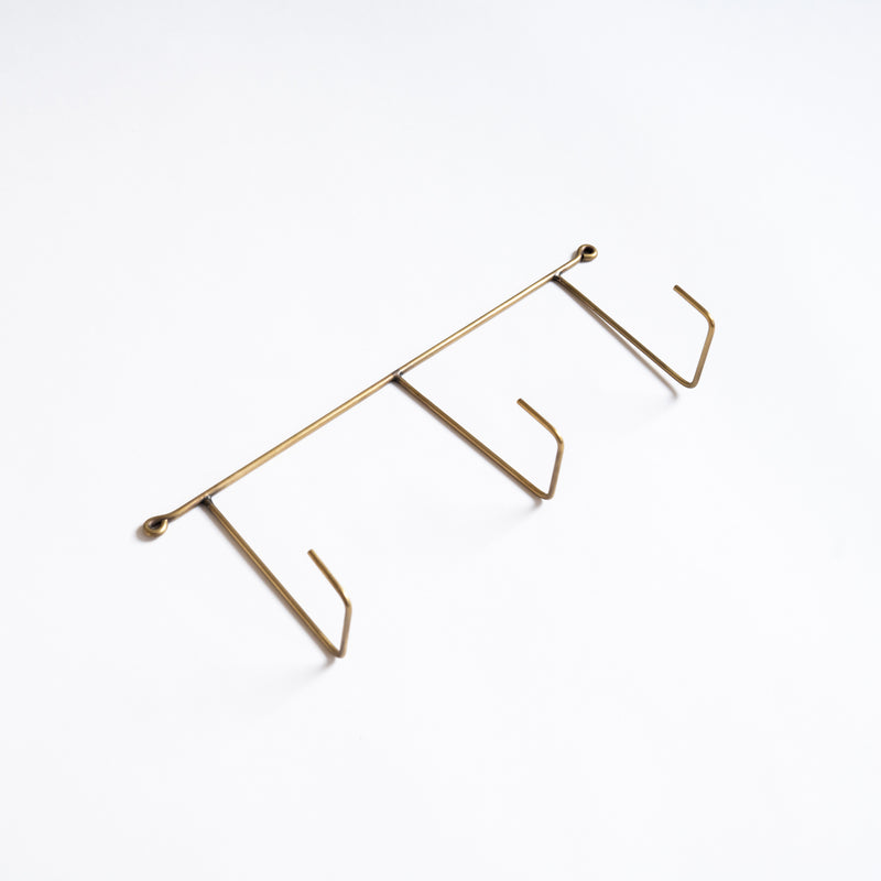 Brass Triple Wall Hook