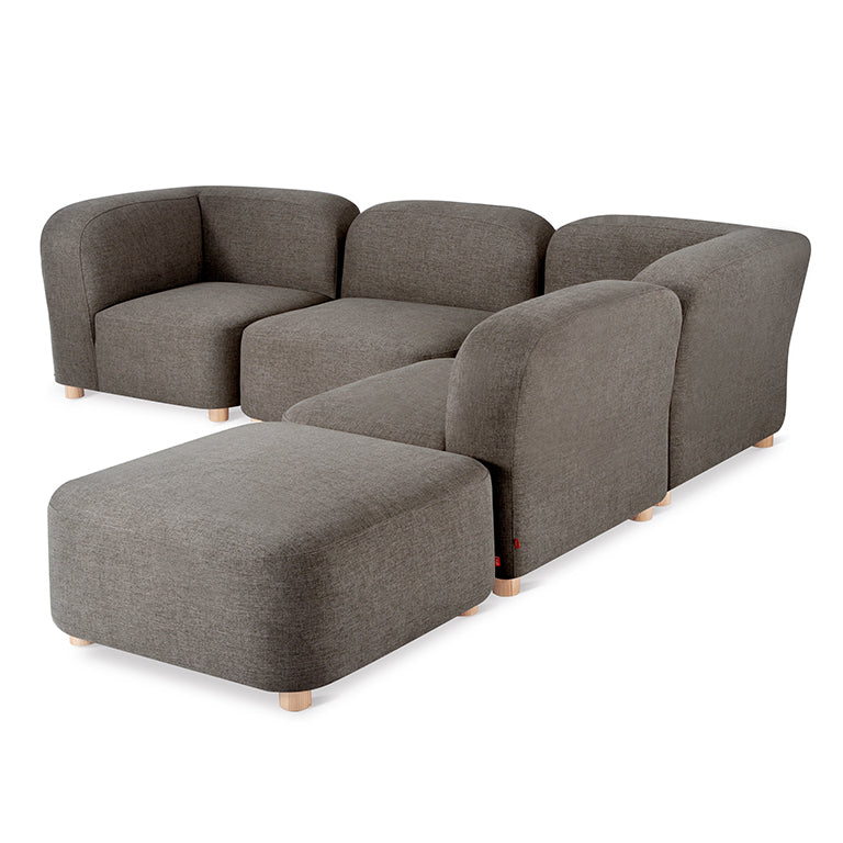 Gus* Modern Circuit Modular 5-pc Sectional