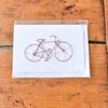 Recycled Copper Wire Bicycle Greeting Card - Rug & Weave