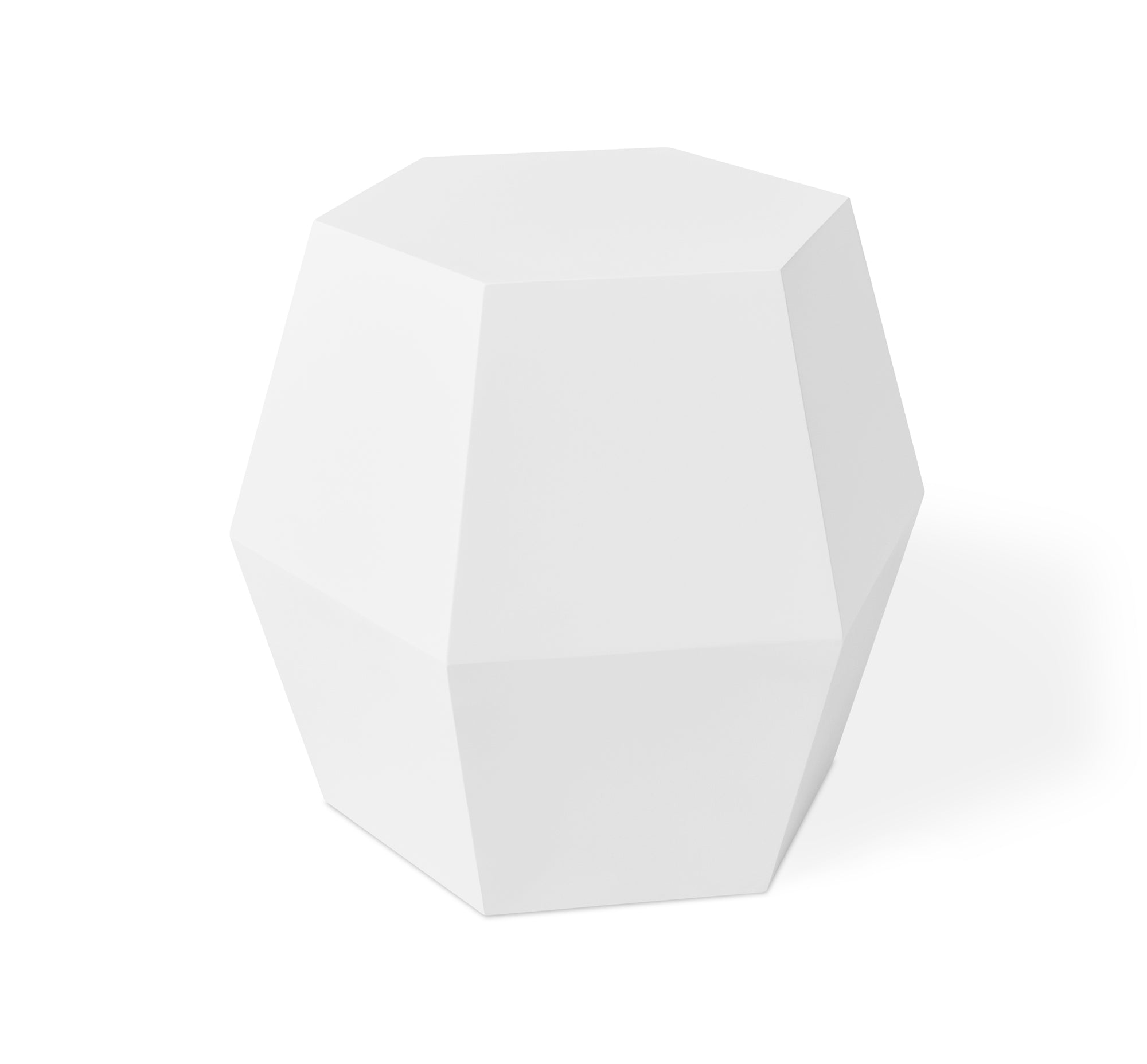 Facet 14 Table Matte White