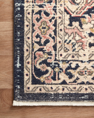 Loloi Graham Coral / Navy Rug - Rug & Weave