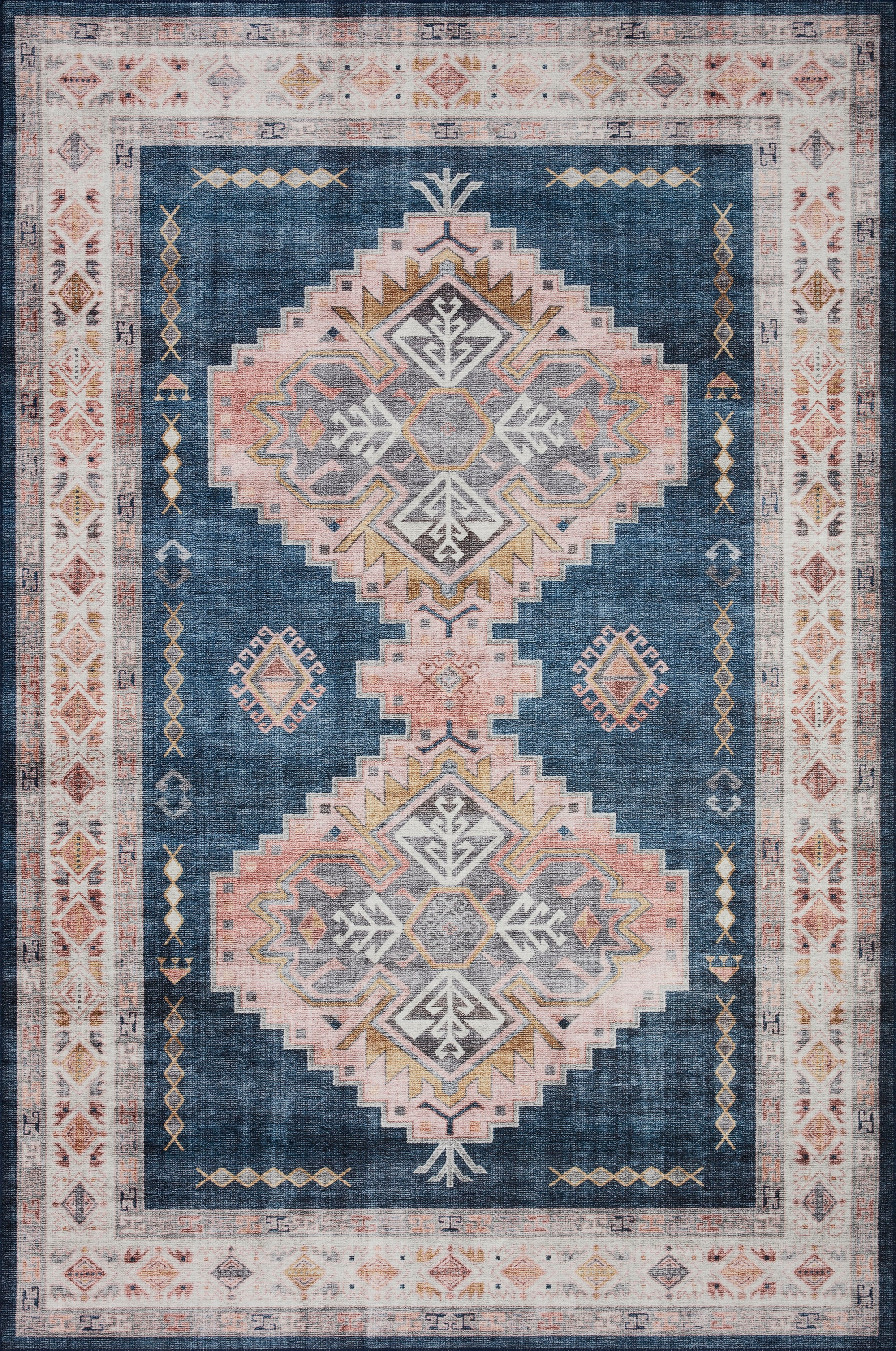 Loloi Heidi Denim / Blush - Rug & Weave