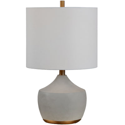 Homer Cement & Gold Table Lamp