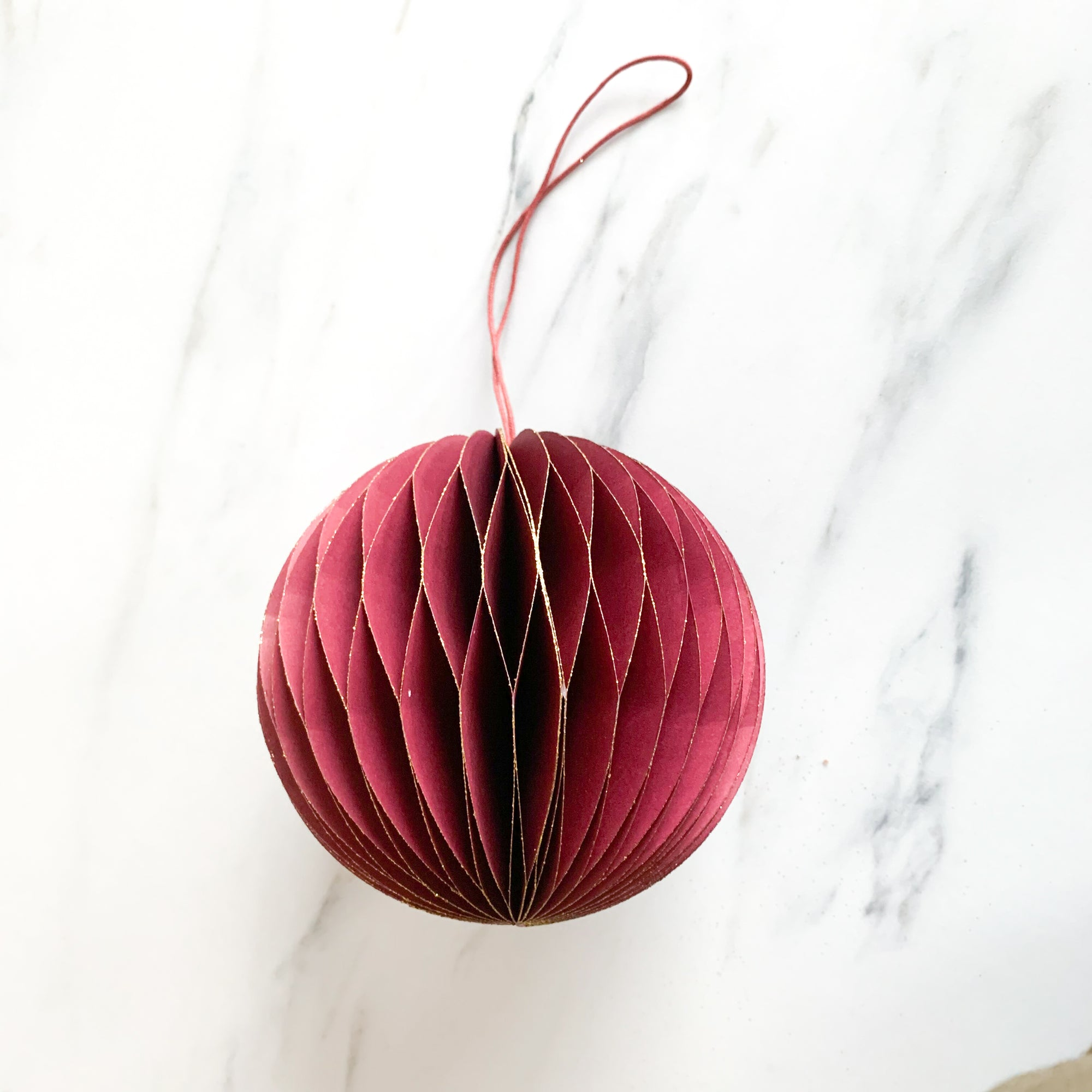 Ruby Accordion Paper Ornament