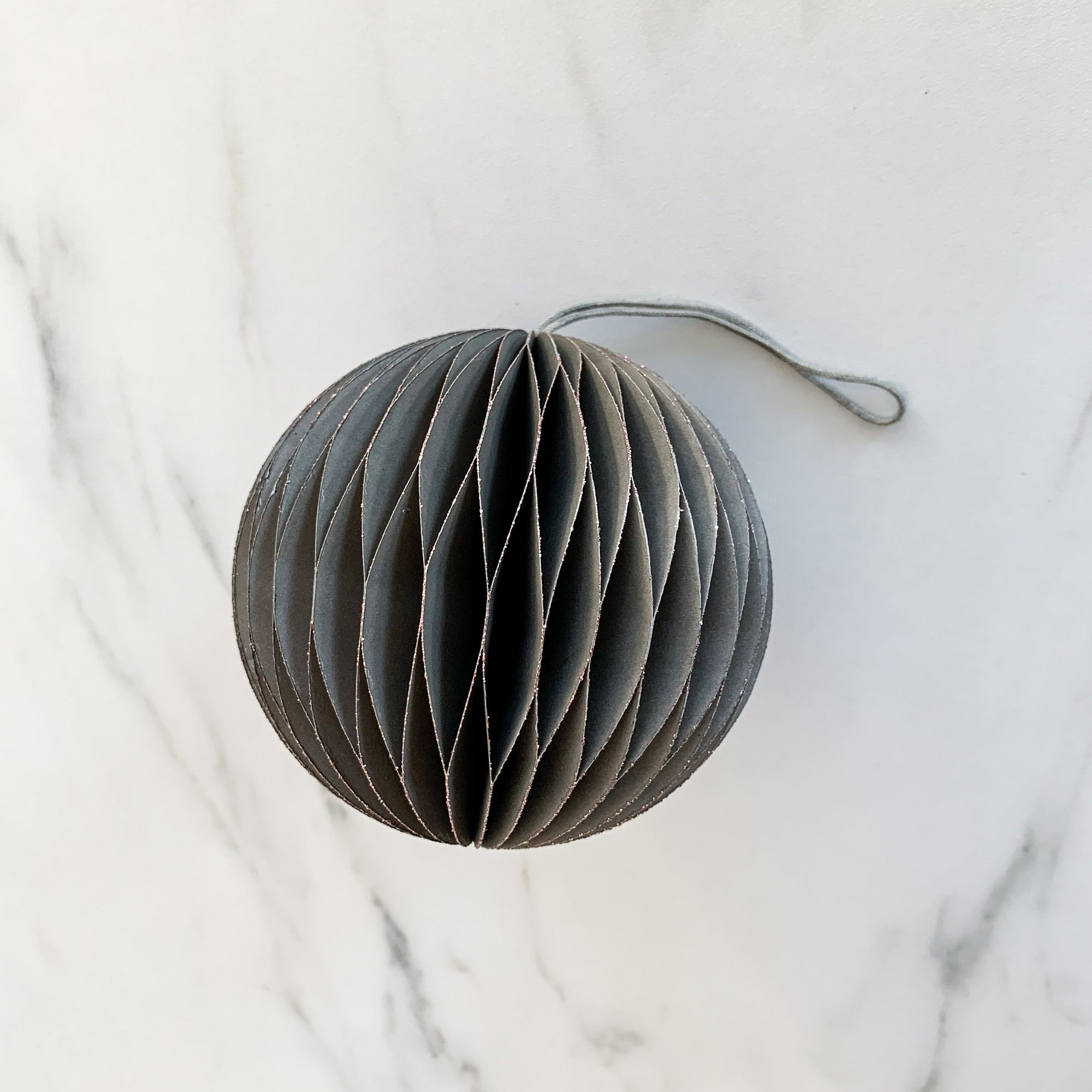 Grey Accordion Paper Ornament