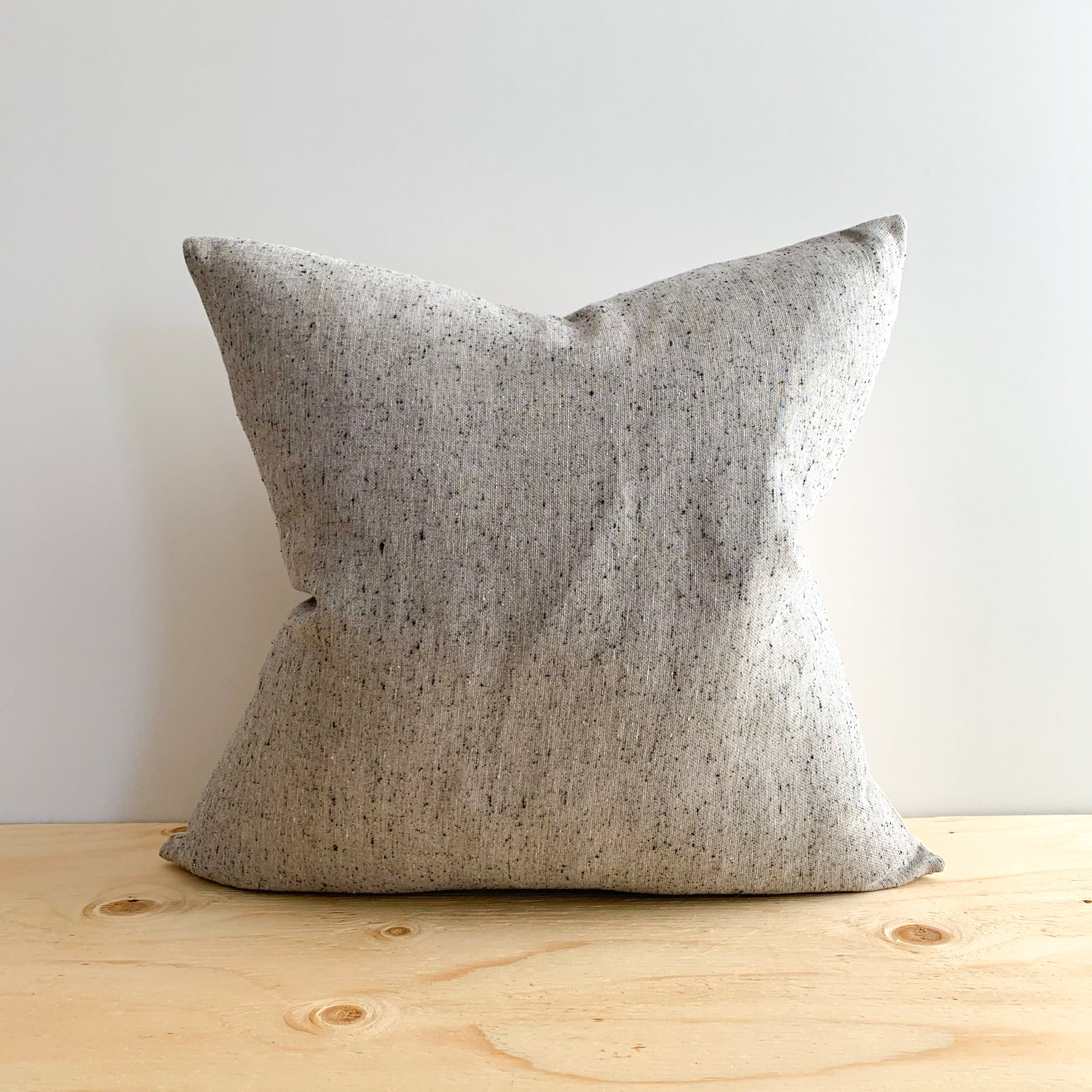 Grey Speckle Linen Pillow - Rug & Weave