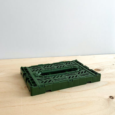 Forest Green Folding Crate - Rug & Weave