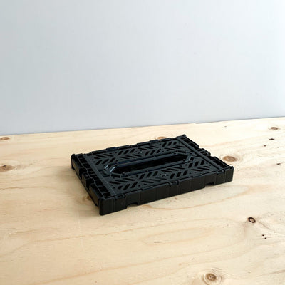 Black Liquorice Folding Crate - Rug & Weave