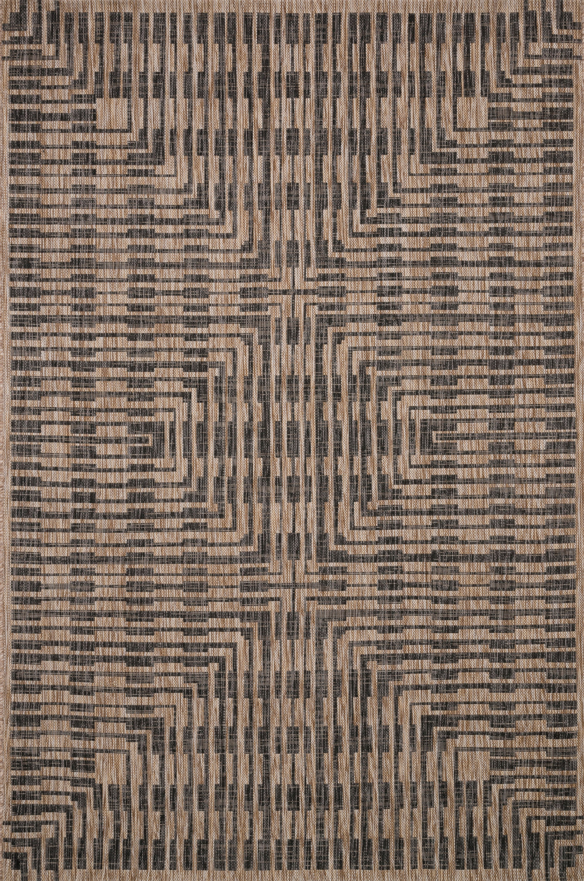 Isle Brown / Black Rug - Rug & Weave