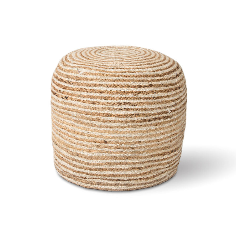 Jute Sand Pouf - Rug & Weave