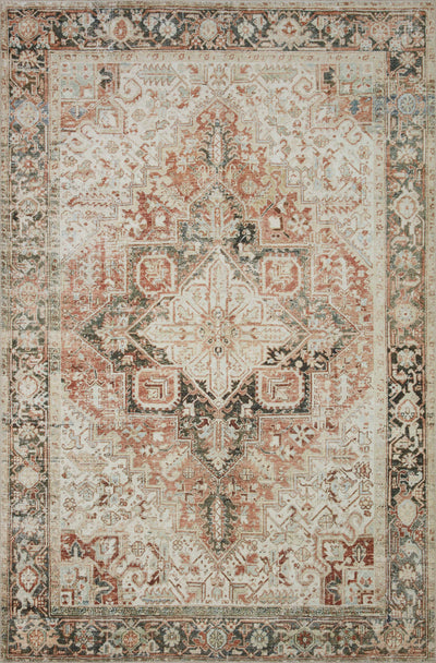 In Store Rug - Lenna Rust / Charcoal - Rug & Weave